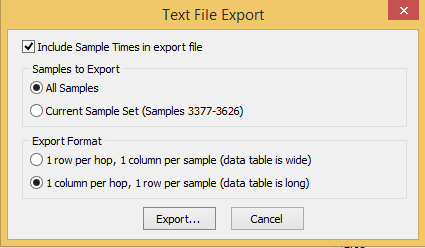 Exporting / analysis in Excel - Print View
